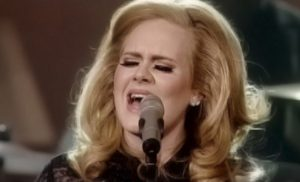 "Adele, ""Set Fire to the Rain""."