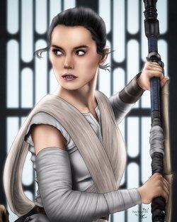 Rey The New Jedi Fanart by Ronggo DeviantArt